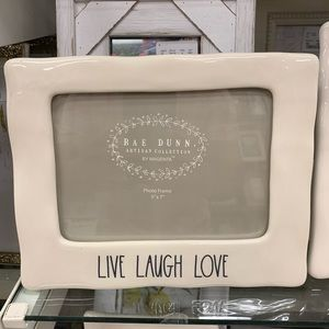 Rae Dunn Live Laugh Love Picture Frame